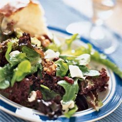 Mixed Greens with Goat Cheese, Cranberries, and Walnuts recipe