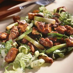 Caramelized Pork Over Lettuce recipe
