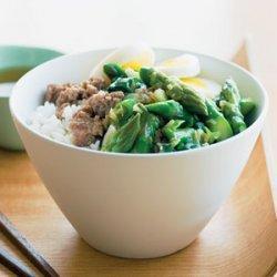Pork and Asparagus Rice Bowl recipe