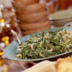 Turnip Greens With Caramelized Onions recipe