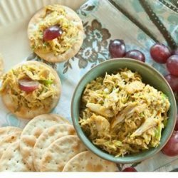 Curried Crab on Crackers recipe