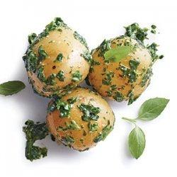 Baby Potatoes with Arugula Pesto recipe