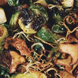 Brussels Sprouts with Shallots and Wild Mushrooms recipe