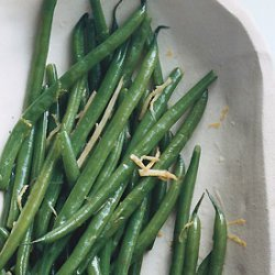 Green Beans with Ginger Butter recipe