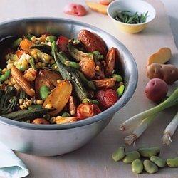 Roasted Potato and Okra Salad recipe