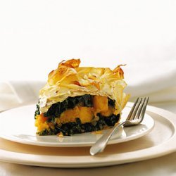 Kale, Butternut Squash, and Pancetta Pie recipe