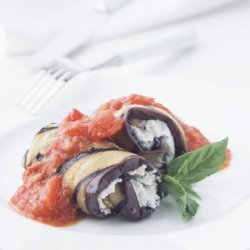 Eggplant Rolls with Spicy Tomato Sauce recipe