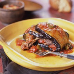 Braised Lamb Shanks Wrapped in Eggplant recipe