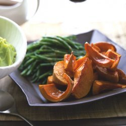 Green Beans and Roasted Squash with Sherry Soy Butter recipe
