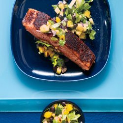Jamaican Jerk Salmon and Mango Pineapple Salsa recipe