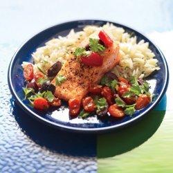 Tuscan Salmon with Rosemary Orzo recipe