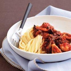 Shrimp and Pasta Puttanesca recipe