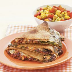 Black Bean Quesadillas with Warm Corn Salsa recipe