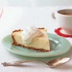 Eggnog Cheese Pie with Bourbon Cream recipe