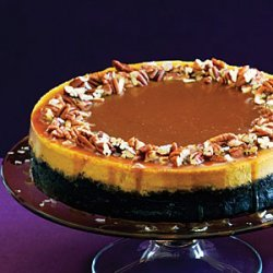 Pumpkin-Orange Cheesecake with Chocolate Crust and Salted Caramel recipe