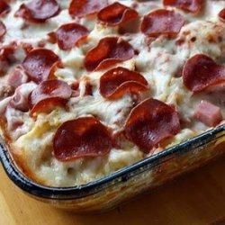 3 Meat Pizza Casserole recipe
