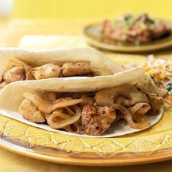 Chicken Soft Tacos with Sauteed Onions and Apples recipe