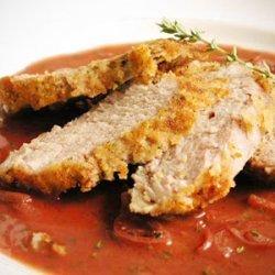 Pork Tenderloin with Hazelnut Crust and Red Wine-Shallot Sauce recipe
