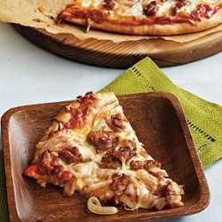 Caramelized Onion and Turkey Sausage Pizza recipe