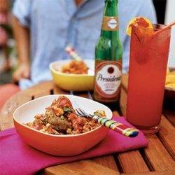 Mofongo Relleno de Pollo Guisado (Plantains and Pork Cracklings with Stewed Chicken) recipe