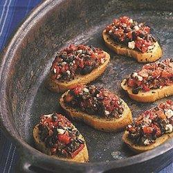 Roasted Red Pepper And Ripe Olive Crostini recipe