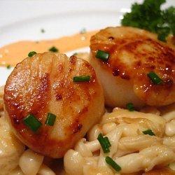 Scallops with Mild Creamy Ginger Sauce recipe