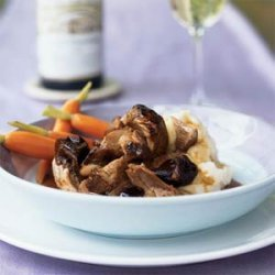 Braised Pork Shoulder in Hoisin-Wine Sauce with Dried Plums recipe