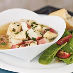 Braised Chicken with Red Potatoes and Tarragon Broth recipe