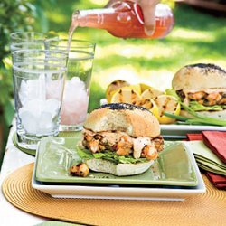 Shrimp Burgers With Sweet 'n' Spicy Tartar Sauce recipe