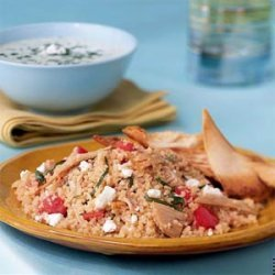 Couscous Salad with Chicken, Tomato, and Basil recipe