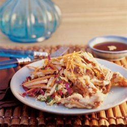 Tempura Soft-shell Crab with Asian Slaw recipe