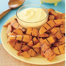 Grilled Sweet Potato Fingers with Curry Dip recipe