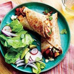 Potato, Chorizo, and Green Chile Burritos recipe