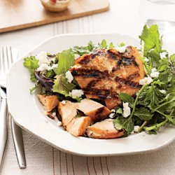 Grilled Salmon With Greens recipe