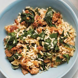 Sausage-Spinach Rice Bowl recipe