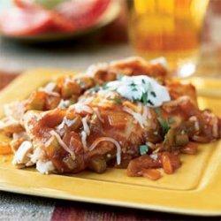 Speedy Chicken and Cheese Enchiladas recipe
