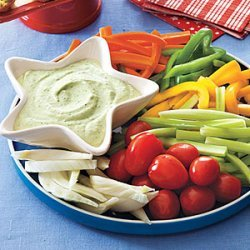 Green Goddess Dip with Crudites recipe