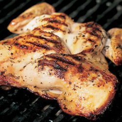 Grilled Split Chicken with Rosemary and Garlic recipe