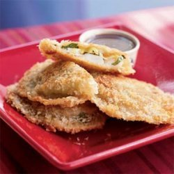 Shrimp Fritters with Spicy Moroccan Dipping Sauce recipe