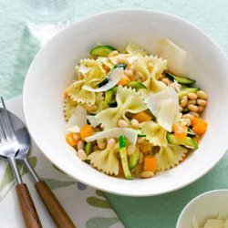 Farfalle with Zucchini and White Beans recipe