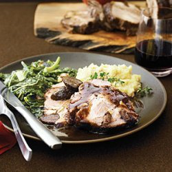 Pork Shoulder Roast with Figs, Garlic, and Pinot Noir recipe