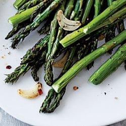 Garlic and Red Pepper Asparagus recipe
