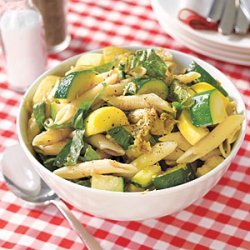 Pasta Salad with Eggplant, Zucchini and Squash recipe