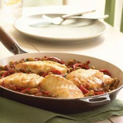 Cod with Red Pepper-Chorizo Ragout recipe