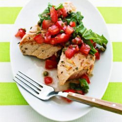 Grilled Tuna with Tomato Salsa recipe
