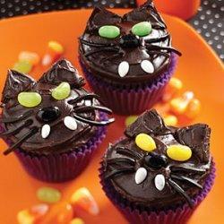 Black Kitty Cat Cupcakes recipe