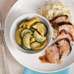 Grilled Pork Tenderloin with Squash Medley recipe