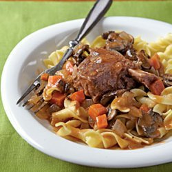 Braised Short Ribs with Egg Noodles recipe
