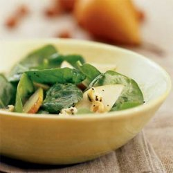 Spinach and Pear Salad with Sherry and Stilton recipe