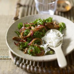 Shredded Beef Stir Fry with kale and black bean sauce recipe
